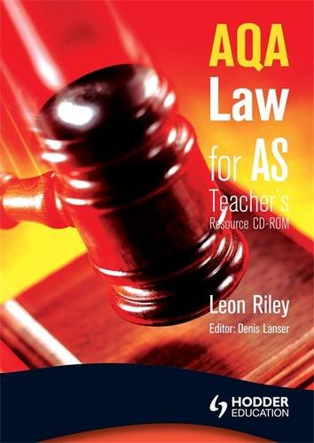 9780340968840: AQA Law for AS: Teacher's Resource CD-ROM (A Level Law)