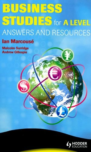 9780340975787: Business Studies for A Level Answers and Mark Schemes (A Hodder Arnold Publication)