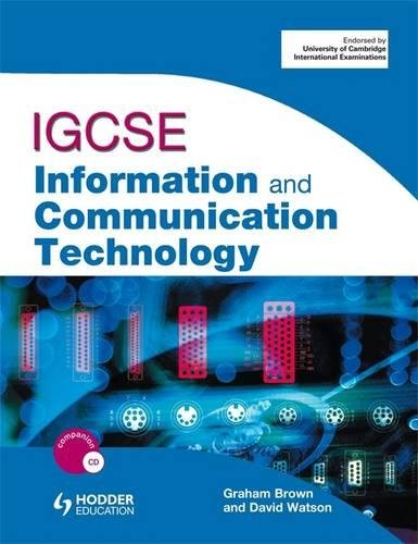 9780340983829: IGCSE Information and Communication Technology (Book & CD Rom)