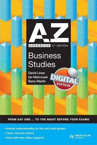 9780340987292: A-Z Business Studies Handbook + Online 6th Edition (Complete A-Z)