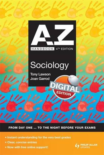 A-Z Sociology Handbook + Online 4th Edition: Lawson, Tony