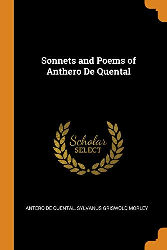 9780342285907: Sonnets and Poems of Anthero De Quental