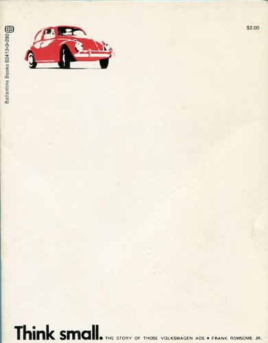 9780345024138: Think Small : The Story of Those Volkswagen Ads