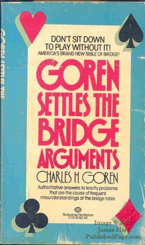 9780345275783: Goren Settles the Bridge Arguments