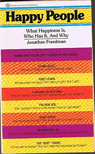 Happy People: Freedman, Jonathan L.