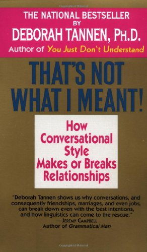 That's Not What I Meant: How Conversational Style Makes or Breaks Relationships