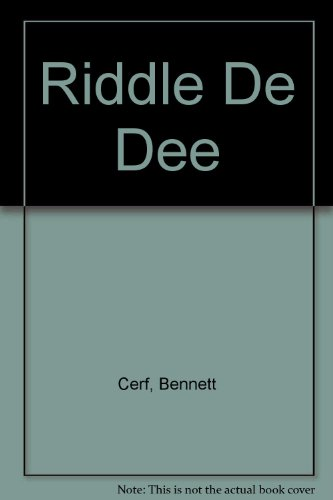 Riddle-De-Dee (034536872X) by Bennett Cerf