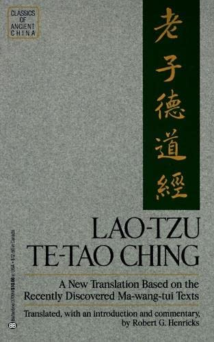 9780345370990: Lao Tzu: Te-Tao Ching : A New Translation Based on the Recently Discovered Ma-Wang-Tui Texts