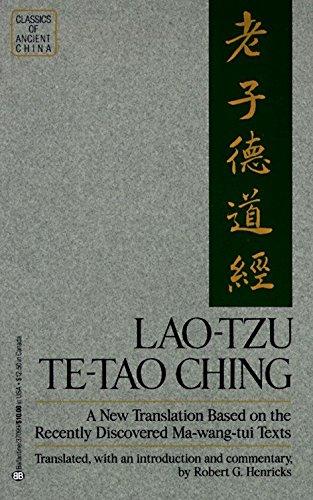 Lao Tzu: Te-Tao Ching - A New: Lao Tzu