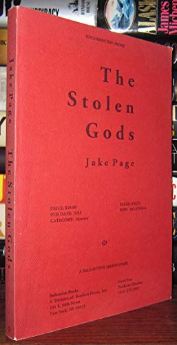 The Stolen Gods: *Signed*: Page, Jake