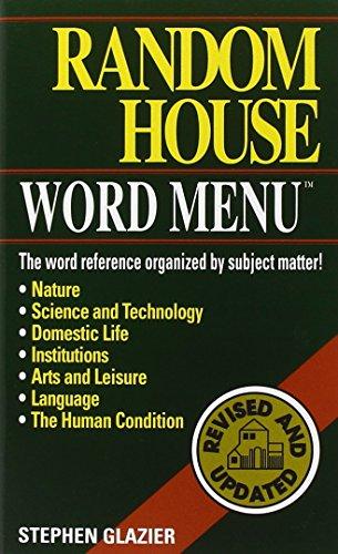 9780345414410: Random House Webster's Word Menu