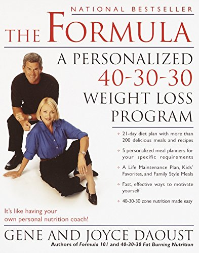 9780345443069: The Formula: A Personalized 40-30-30 Fat-Burning Nutrition Program