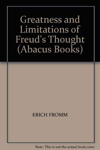 9780349113418: Greatness and Limitations of Freud's Thought (Abacus Books)