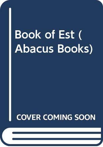 9780349129846: Book of Est