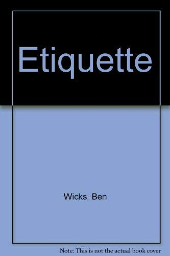 Etiquette (0352316896) by BEN WICKS