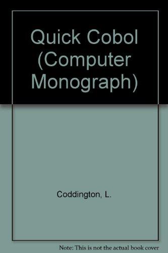 9780354042666: Quick Cobol (Computer Monograph)