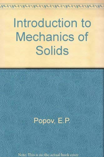 9780356024738: Introduction to Mechanics of Solids