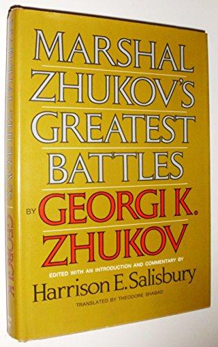 9780356029238: Marshal Zhukov's Greatest Battles