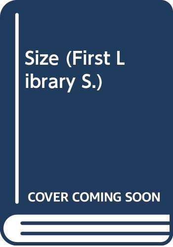 9780356036717: Size (Macdonald First Library Series)
