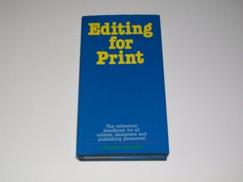 Editing for Print: Rogers, Geoffrey