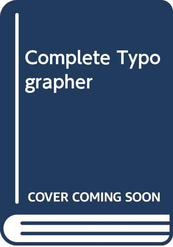 9780356207742: Complete Typographer