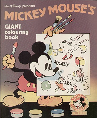9780361042291: Walt Disney presents Mickey Mouse's giant colouring book