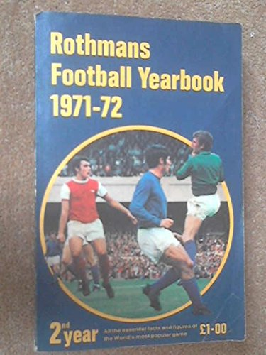 9780362000948: Rothmans Football Yearbook 1971-72