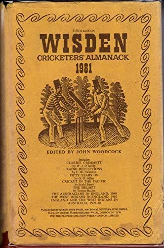 Wisden Cricketers' Almanack 1981: Woodcock, John