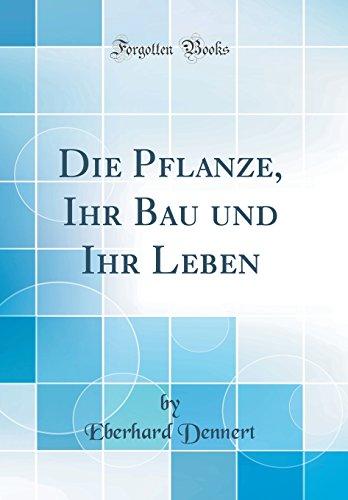 Die Pflanze, Ihr Bau und Ihr Leben (Classic Reprint) - Dennert, Eberhard
