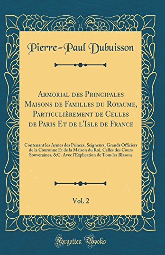 Armorial des Principales Maisons de Familles du: Pierre-Paul Dubuisson