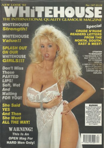9780368937224: WHITEHOUSE UK ADULT MAGAZINE NUMBER 187 CRUDE AND RUDE READERS LETTERS!