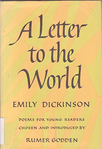 9780370010922: A Letter to the World