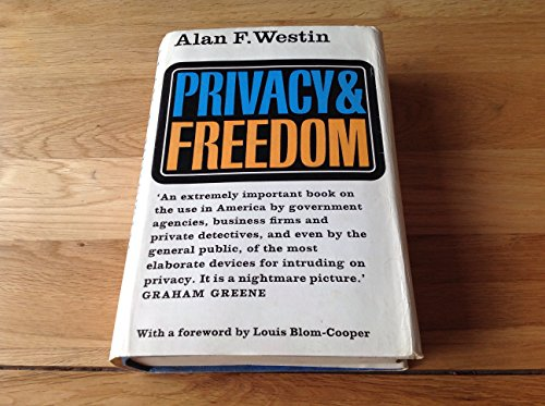 9780370013251: Privacy and Freedom