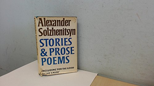 9780370014517: Stories and Prose Poems