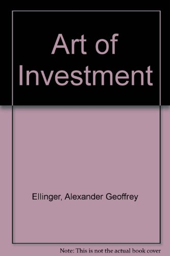 9780370101507: Art of Investment