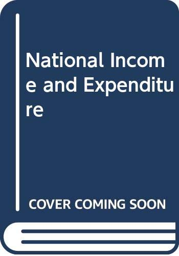 9780370101651: National Income and Expenditure