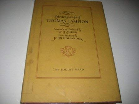Selected Songs of Thomas Campion: Campion, Thomas