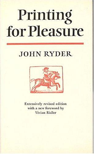 9780370104430: Printing for Pleasure