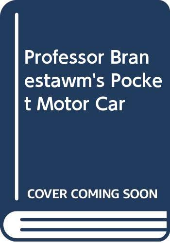 9780370303635: Professor Branestawm's Pocket Motor Car