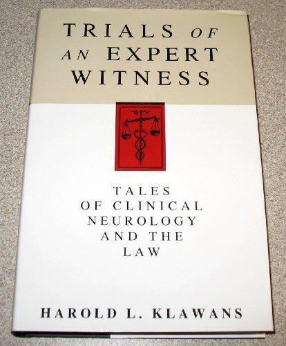 Trials of an Expert Witness (9780370316086) by Harold L. Klawans