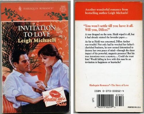 9780373033522: Invitation to Love (Harlequin Romance)