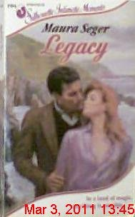 9780373071944: Legacy (Silhouette Intimate Moments)