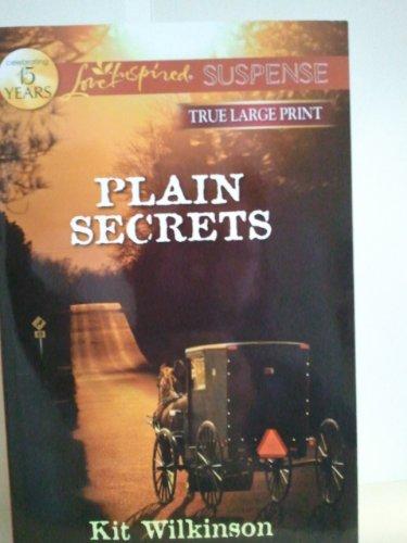 9780373083206: Plain Secrets (True Large Print) (Love Inspired Suspense)
