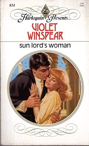 9780373108541: Sun Lord's Woman (Harlequin Presents, No 854)