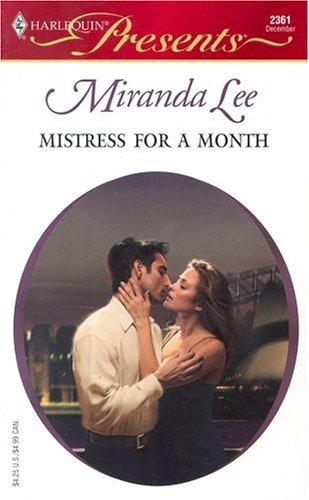 Mistress For A Month Three Rich Men: Miranda Lee