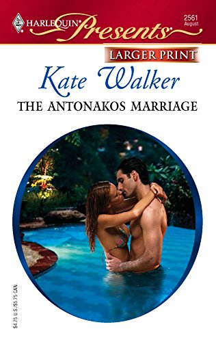 9780373233250: The Antonakos Marriage