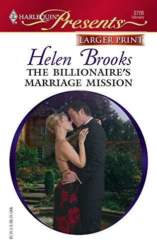 9780373234691: The Billionaire's Marriage Mission