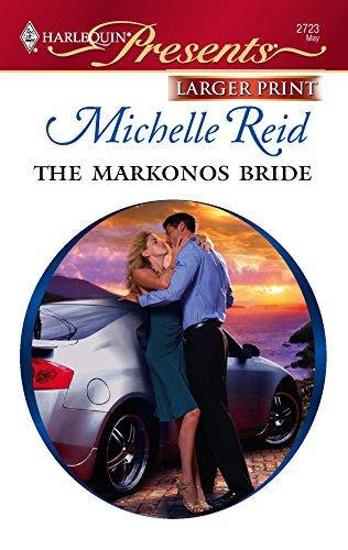 9780373234875: The Markonos Bride (Larger Print Harlequin Presents)