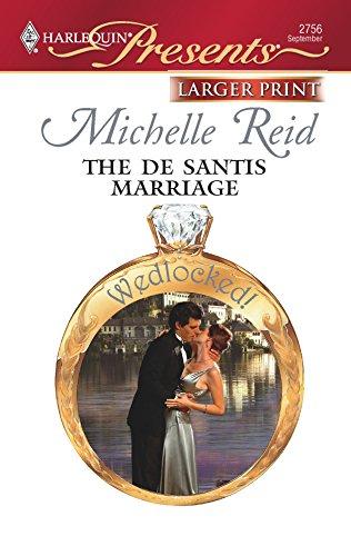 9780373235209: The De Santis Marriage