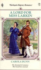 9780373311521: A Lord For Miss Larkin (Harlequin Regency Romance, No 152)